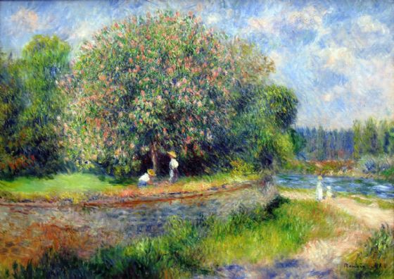 Renoir, Pierre Auguste: Chestnut Tree in Bloom. Fine Art Print/Poster. Sizes: A4/A3/A2/A1 (004260)